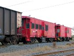 071022014 Cabooses KRL 77 & 74 on westbound CP freight near BNSF Northtown