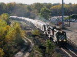 071022021 Eastbound BNSF freight passes Lyndale Junction on Wayzata Sub.