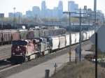 071025012 Northbound CP freight passes BNSF Northtown CTC 44th heads for Superior