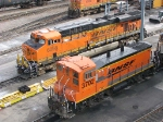 071127001 BNSF 3702 and 6056 at the Northtown diesel shop