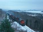 CN diesels on DW&P freight