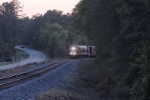 NS 955 just past summit siding heads north toward lexington right at dusk