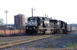 74V makes the turn north on to the W line in town with import coal from charleston to northern distination