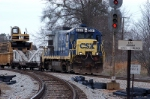 backing off the monroe sub this csx train looks like it finished dropping ties for the day