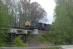 one of the last bridges before spartansburg u392 rolls north across the woodruff bridge just below roebuck sc
