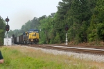 Loaded south bound train takes the main at Joanna while the north bound crew gives her a look see
