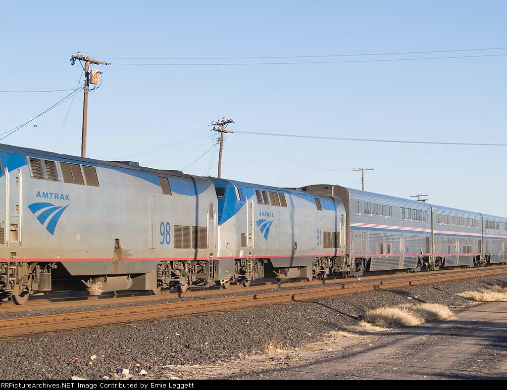 AMTK 91 #2 power on WB Sunset Limited at 4:49pm