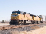 UP 4711 leads a WB intermodal at 12:36pm