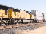 UP 4431 #2 power in WB intermodal at 12:36pm