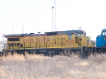 UP 9150 #4 power in WB intermodal at 2:45pm