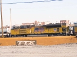 UP 8367 #3 power in WB intermodal at 4:23pm