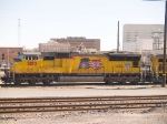UP 5150 #3 power in WB intermodal at 3:45pm