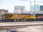 UP 5276 #2 power in WB intermodal at 3:45pm