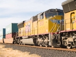UP 5173 #3 power in EB intermodal at 3:58pm