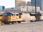 UP 3933 #3 power in WB intermodal at 4:25pm