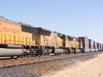 UP 5053 #3 power in WB doublestack at 1:52pm