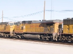 UP 9676 #2 power in WB doublestack at 3:55pm