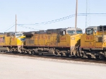 UP 9669 #3 power in WB doublestack at 3:55pm