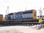 CSX 8063 #2 power in WB manifest at 1:05pm