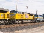 UP 8430 #3 power in WB doublestack at 1:19pm