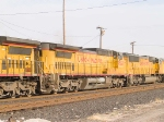UP 9557 #2 power in WB doublestack at 4:05pm