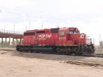 CP 5701 tied down in River Yard next to border