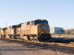 UP 5022 leads an EB stack train at 5:17pm