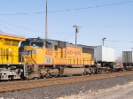 UP 4363 #2 power in WB stack/pig at 3:40pm