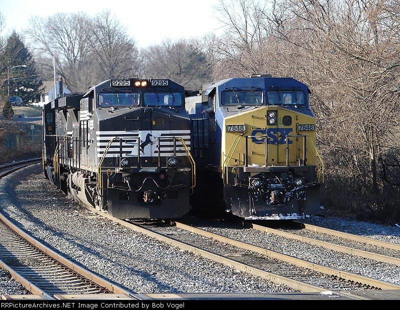 NS 9295 & CSX 7848