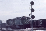 1034-17 BN light engines at Northtown University Junction