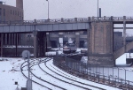 1034-20 AMTK 334 departs Mpls GN passenger depot with eastbound Amtrak Hiawatha