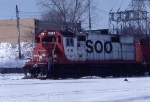 "1036-34 Southbound SOO 415 ""Dolly sister"" heading into CNW Railway Transfer"