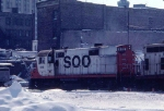 """1036-35 Southbound SOO 415 """"Dolly sister"""" heading into CNW Railway Transfer"""