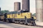 1053-34 C&NW SD7R 6621 at Cedar Lake Yard
