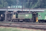 1057-11 BN 143 at Daytons Bluff Yard shows off its ex-GN heritage
