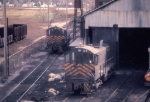1120-35 Koppers Coke 63 and 64 rest at the engine shed