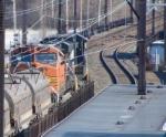 BNSF 7721 under wires