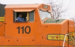 Happy Engineers ride in BNSF's
