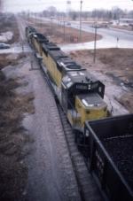1418-18 C&NW eastbound DAPX coal loads