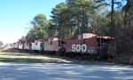 7 cabooses in storage off the CSX yard & Capital Blvd.