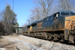 CSX 5249 K802 19 NB on a cold day