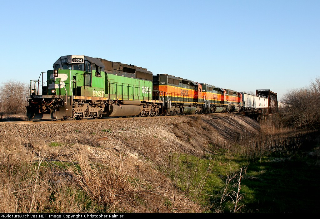 BNSF 8054, 7328, 7332, and 7839