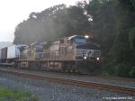 NS 9664 eastbound container train