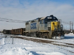 CSX 2631 leading D708-09 out of the yard