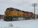 BNSF 5385 & 5739 cutting off of E945 coal empties