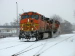BNSF 5713 & 5616 returning to the yard as D801 after pushing an Essexville coal train out of town