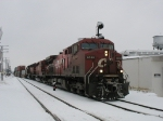 CP 9550 leading X502 onto track 1