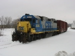 CSX 2630 coming out of PCA with two boxcars
