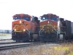 BNSF ES44DC 7575 & BNSF C44-9W 4337