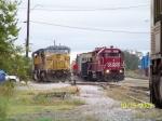 UP C41-8W 9508 & HLCX GP38-2 3843